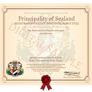 Sealand lord title